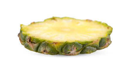 pineapple with slices isolated Clipping Path 写真素材