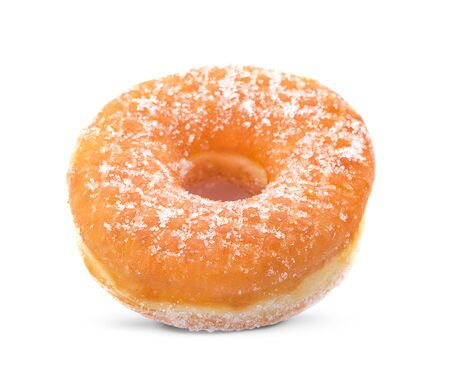 Sugar Ring Donut Isolated on a White Background 写真素材