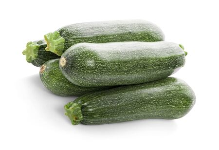 Fresh zucchini isolated on white (cucumber) 写真素材