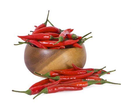Chilli Padi, Birds Eye Chilli, Bird Chilli, Thai pepper White background