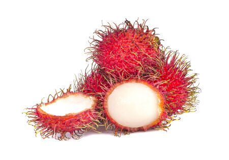 rambutan an isolated on white background Stock Photo