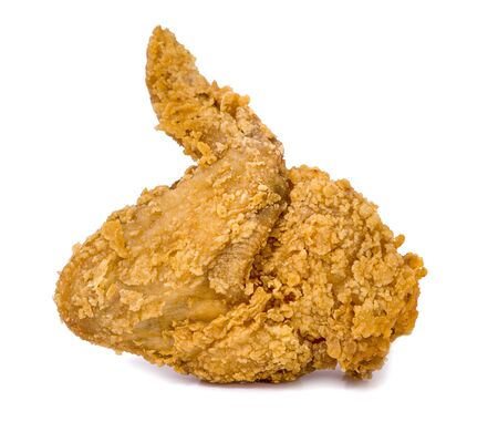 Fried chicken an isolated on white background Stock Photo