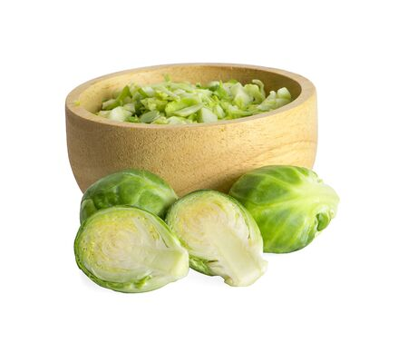 brussel sprouts vegetable an isolated on white background Zdjęcie Seryjne