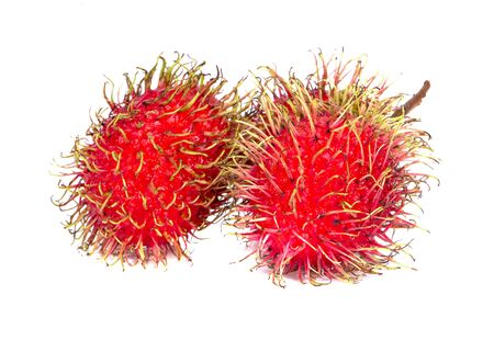 rambutan sweet delicious fruit an isolated on white background