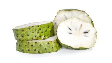 Soursop fruits an isolated on white background