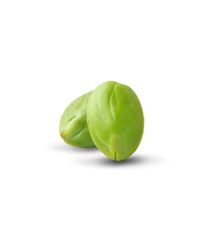Bitter bean an isolated on white background.