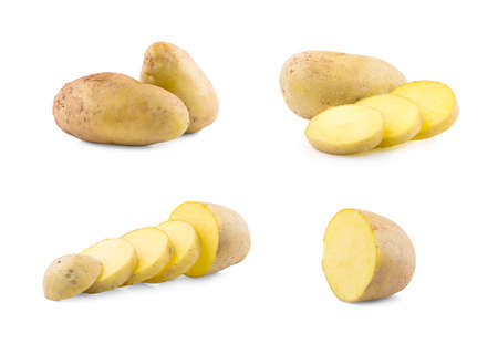 potatoes an isolated on white background
