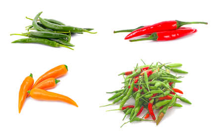 fresh chili an isolated on white background