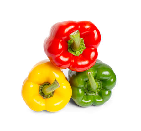 bell peppers an isolated on white background
