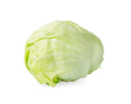 Green Iceberg lettuce an isolated on White Background