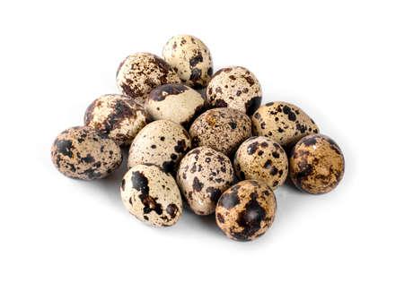 quail eggs, isolated on white background