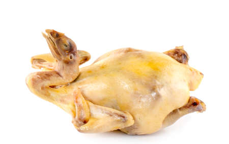 boiled chicken isolated on a white background