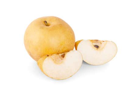 Snow pear isolated on a white background Zdjęcie Seryjne