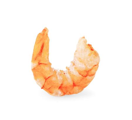 dried shrimp isolated on white background