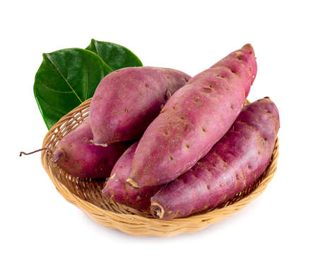 sweet potatoes isolated on the white background