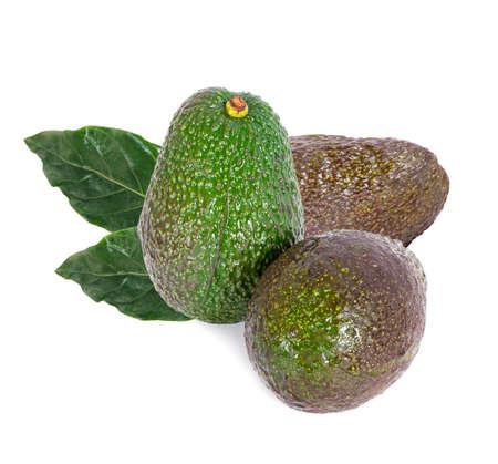 avocado isolated on white background