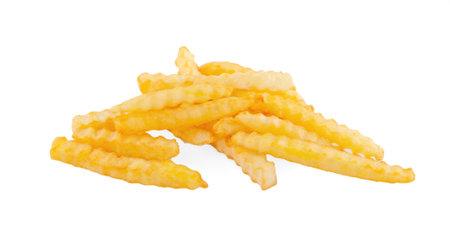 potato fries on white isolated background