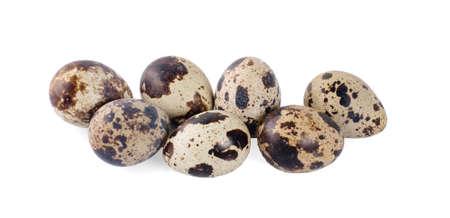 Quail eggs are isolated on a white background Zdjęcie Seryjne