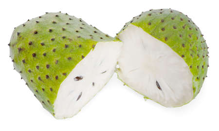 Soursop, Prickly Custard Apple isolated on white background Zdjęcie Seryjne