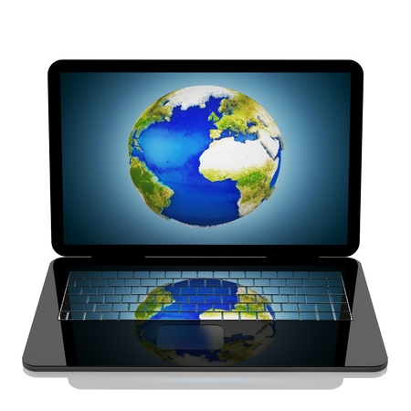3d  internet concept the world on your computer Stock Photo - 8778760