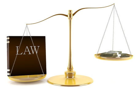 law scale: No one is above the law concept