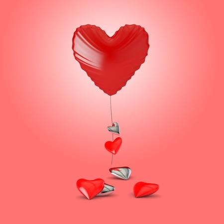 heart shaped balloon. Valentine's day abstract. Stock Photo - 9805597