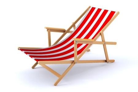 strandstoel: 3D render van een moderne strandstoel