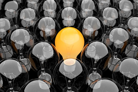 3d render of a group of light bulbs Stock Photo - 9805675