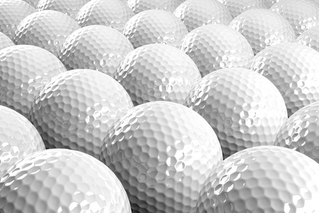3d Golf balls Stock Photo