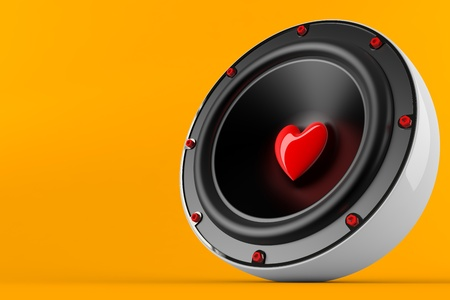 declaration of love: 3d render of loving music concept