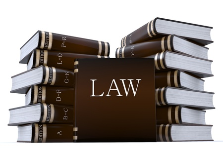 arbitrator: 3D rendering di una collezione di libri di bassi