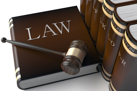 3d Judges gavel and law books  photo