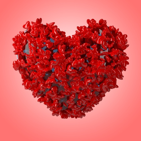 Valentine's day heart. This is a detailed 3D render Stock Photo - 9805652
