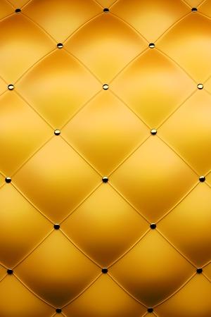 3d render of luxury golden leather Stock Photo