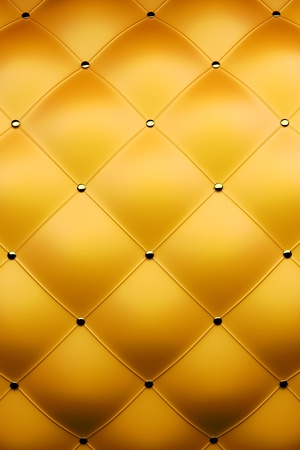 3d render of luxury golden leather Stock Photo