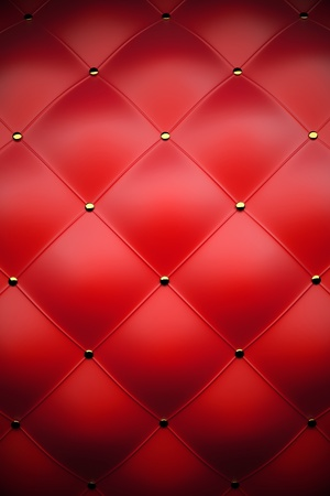 red sofa: 3d red leather