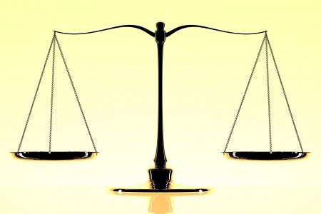 trial balance:  escala Foto de archivo