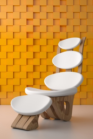 3d render of one relaxing white chair Stock Photo - 9805663