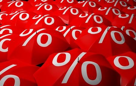 Raining Sales Stock Photo