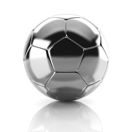 soccerball: 3d metal soccer ball Stock Photo