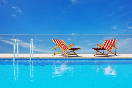 3d Luxury swimming pool