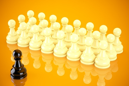 Teamwork with a leader concept Stock Photo