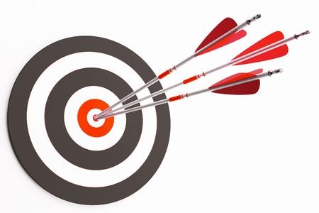 target arrow: Target with arrows