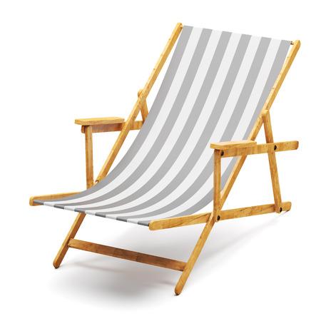 recliner: Modern beach chair  Stock Photo