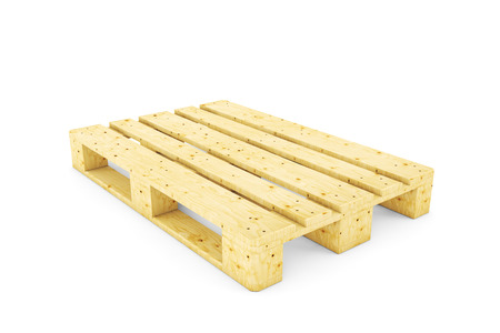 Euro pallet isolated on white background