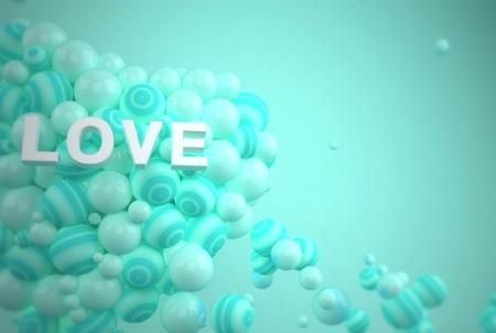 specular: Valentines heart love 3d render Stock Photo