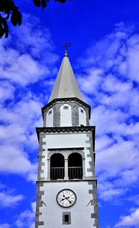 verry: Christian church with blue, cloudy sky. Verry interesting, almost magical photo.