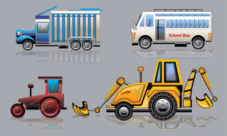 Collection of various transport vehicles Stock Photo - 8099676