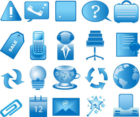 Icon set for web applications isolated on white background Vector