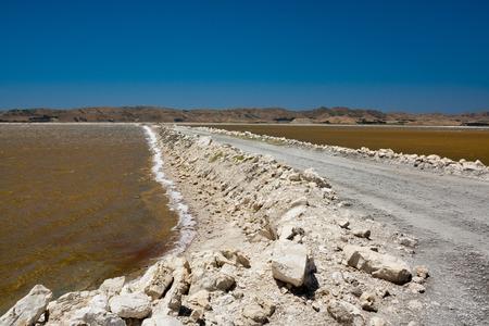 evaporacion: Sal estanques de evaporación salinas Foto de archivo